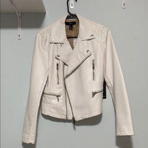white pleather jacket